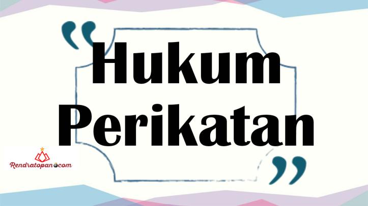 perikatan perdata hukum positif indonesia