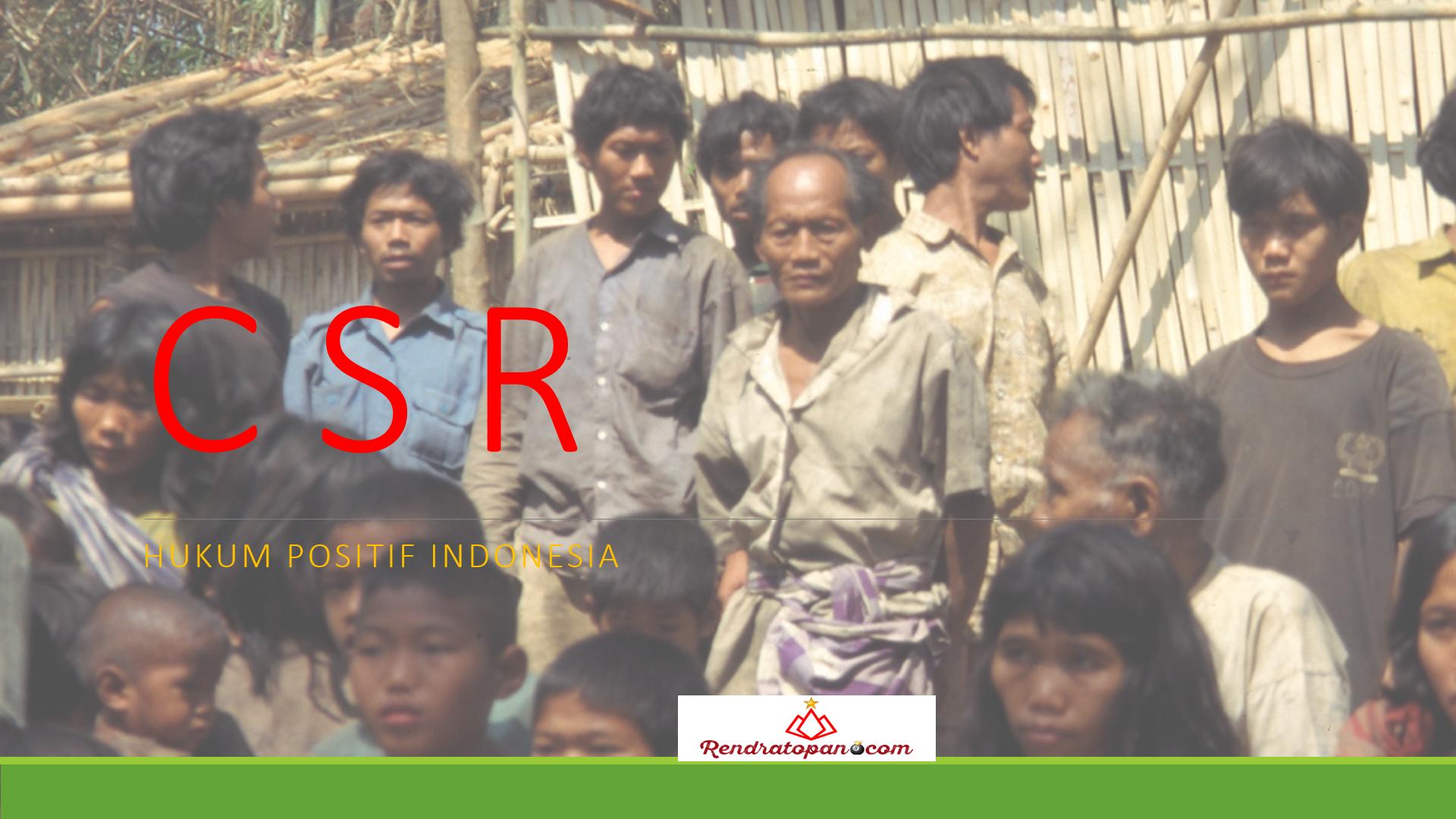 Tanggung Jawab Sosial dan Lingkungan Oleh Perusahaan